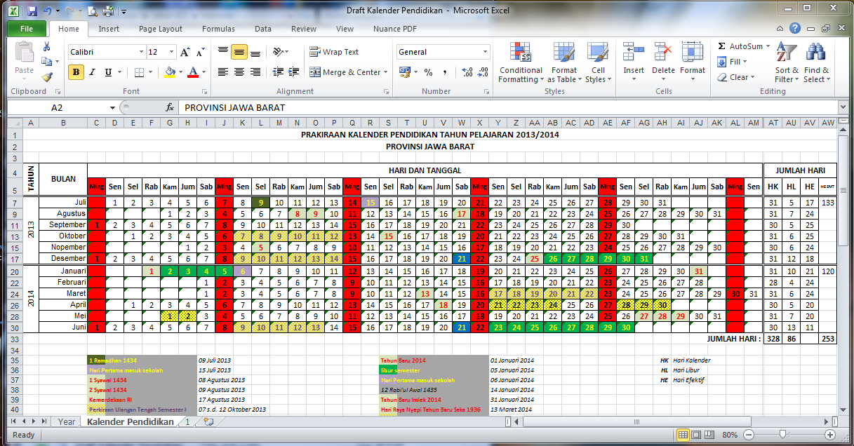 Kalender Pendidikan 2013/2014