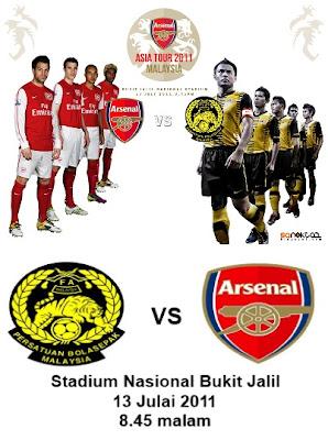 Malaysia VS Arsenal Live Streaming