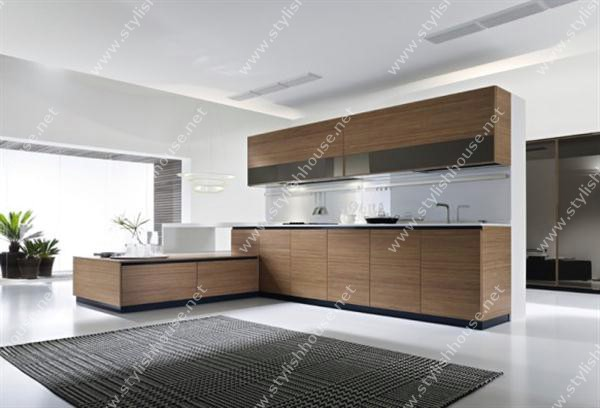 Wooden Modern And Luxury Italian Kitchen Design