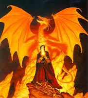 fire, dragon, art, Michael Whelan