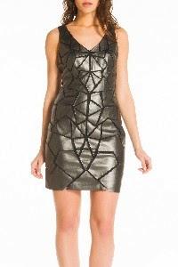 Coctail φορεμα δερματινη