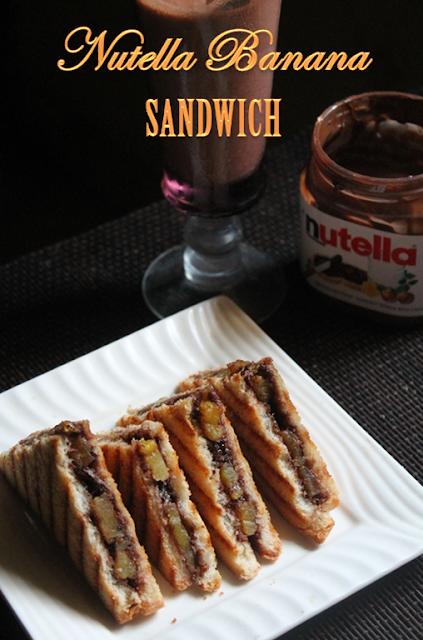 Nutella And Caramelized Banana Sandwich Recipe — Dishmaps