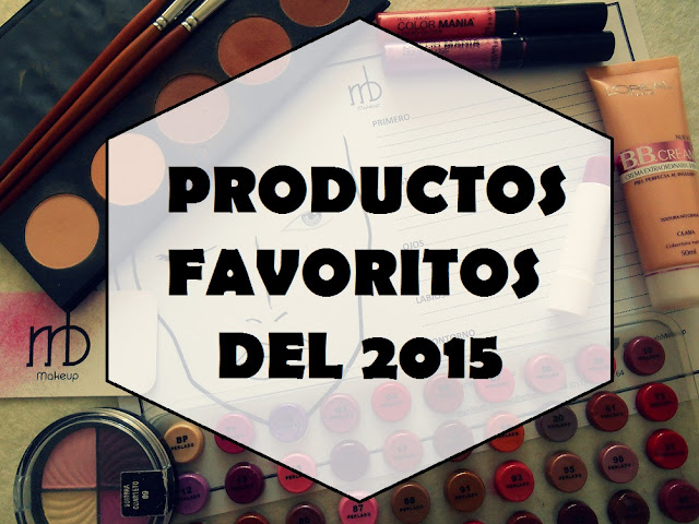 Productos favoritos 2015 Marilina B Makeup