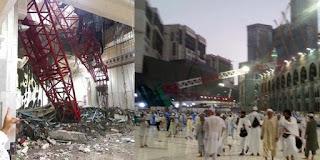 Crane Jatuh di Masjidil Haram Makkah Al Mukarramah
