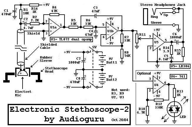 electronic stethoscope circuit  u00ab audio circuit