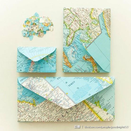 motyw podróżniczy dekoracje z mapy Eco Manufaktura