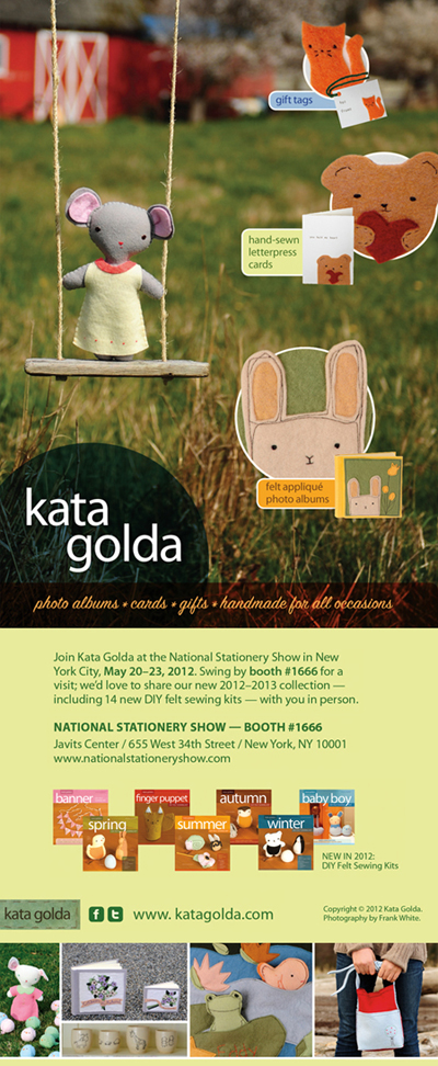Kata Golda: Booth #1666 at the National Stationery Show