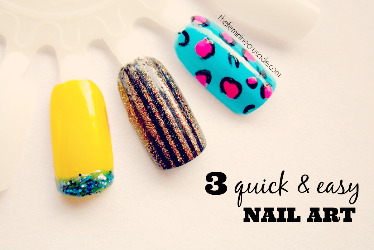3 Quick & Easy Nail Art