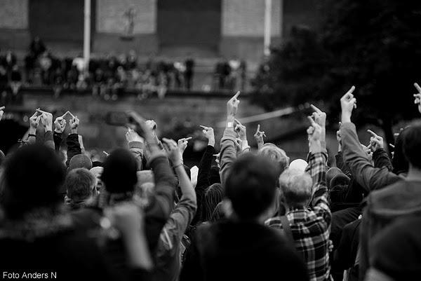 motdemonstranter, svenskarnas parti, götaplatsen, göteborg, 2014, the finger, långfinger, långfingrar, montdemonstranter