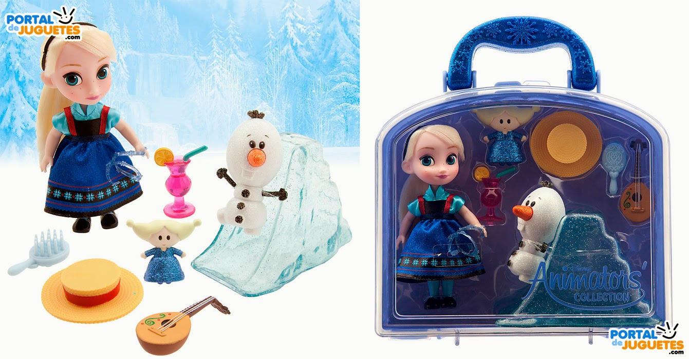 minimuneca elsa frozen coleccion disney animators