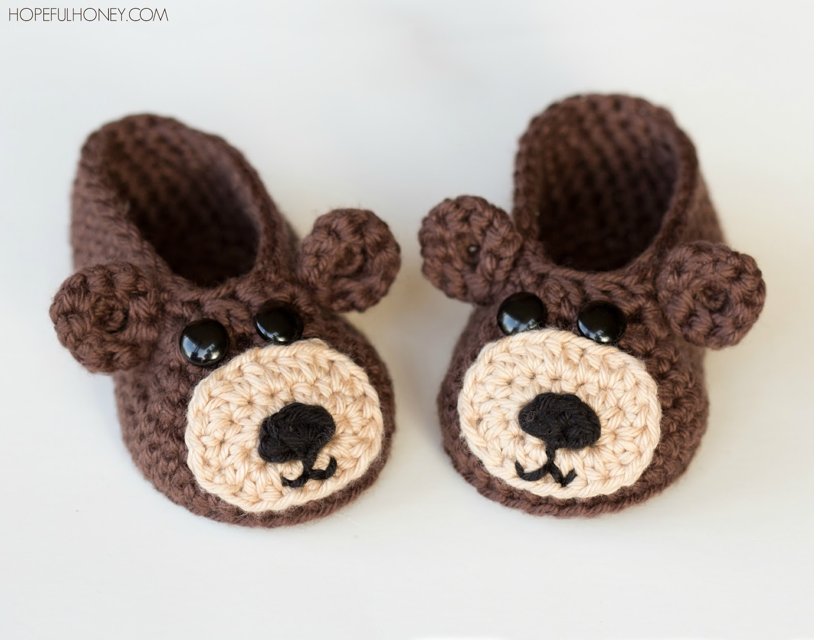 Crochet Baby Teddy Bear Hat Pattern : Hopeful Honey Craft, Crochet, Create: Teddy Bear Baby ...
