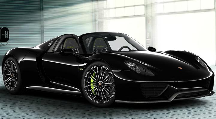 black 918 spyder image - Porsche Spyder 918 Black