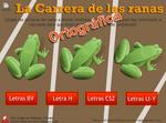 """Vedoque: Juego Ortografico """"La carrera de las ranas"""" 1º y 2º Primaria"""