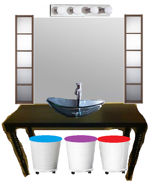 Jeanine Girls Bathroom Vanity Dressing Table Idea