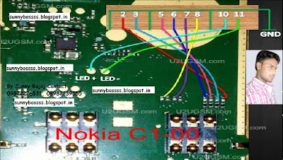 Nokia C100 LCD Display Ways White Light Blank Problem Solution Ways