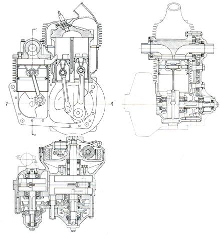 DKW ULd 250 engine cutaway