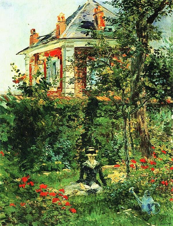 Эдуар Мане. Молодая девушка в саду (Уголок сада в Бельвю).
