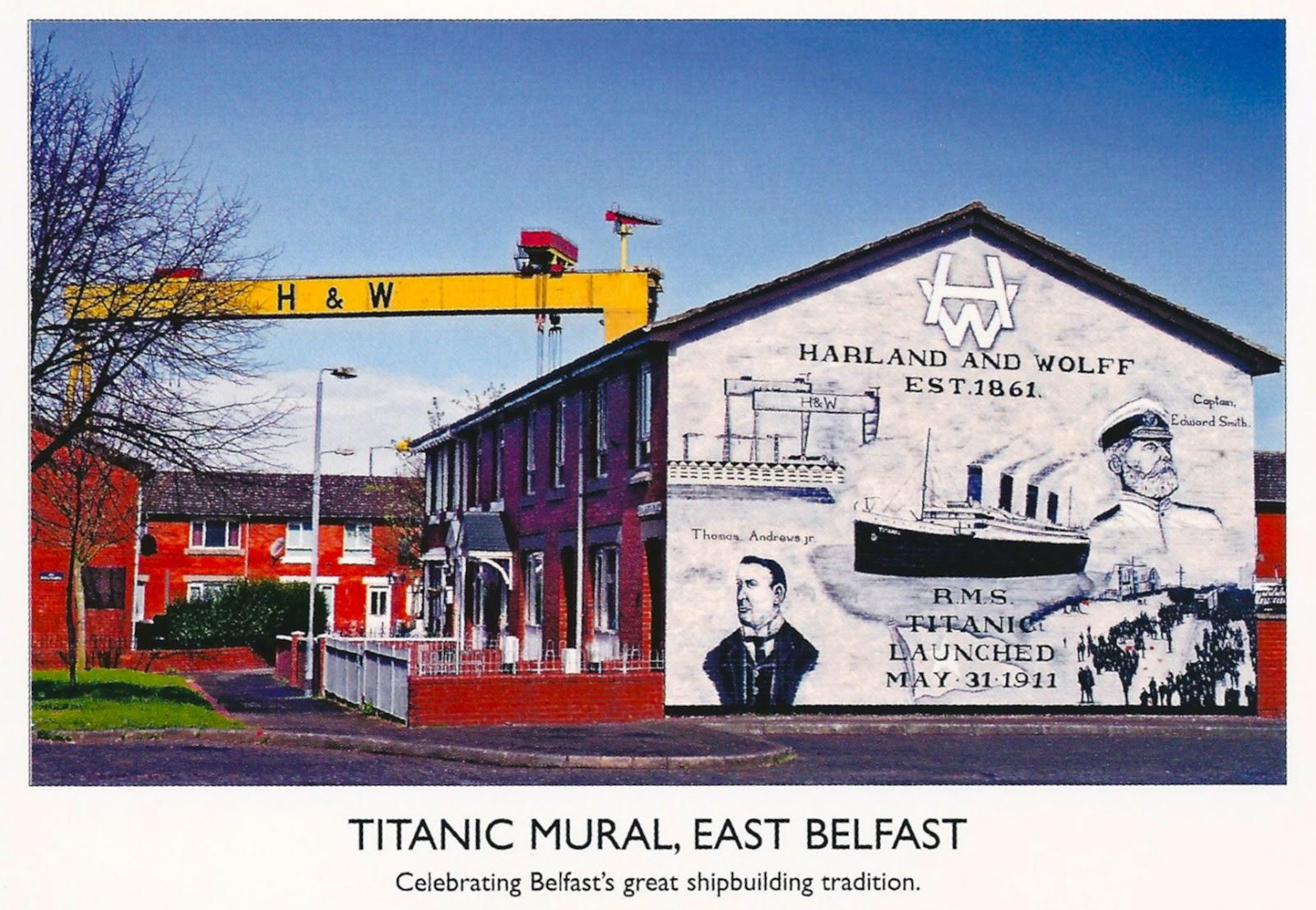 My favorite views ireland titanic mural in east belfast for Mural in belfast