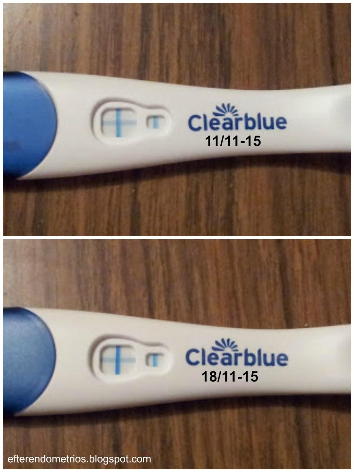 clearblue graviditetstest positivt