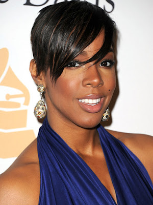 Kelly Rowland Dangling Gemstone Earrings