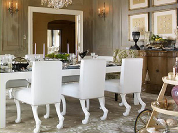 Contemporary Hoof Footed Dining Chairs
