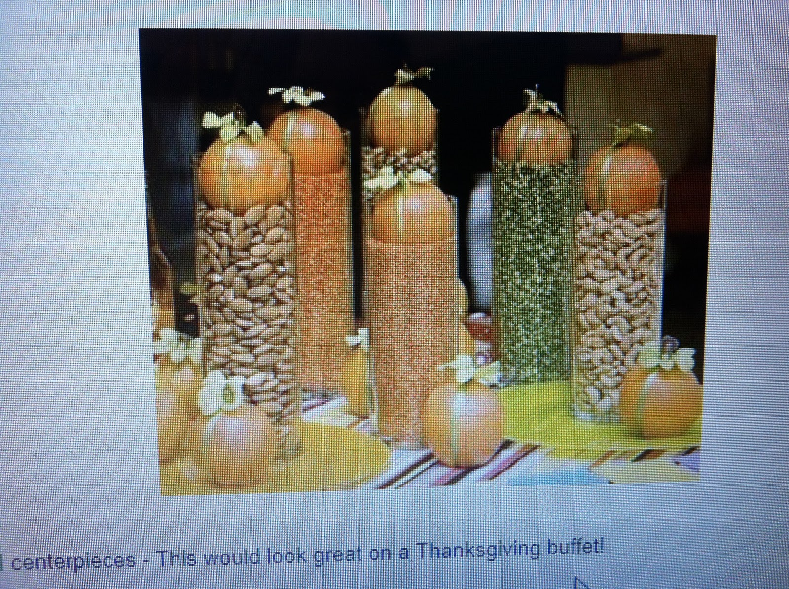 ... 101 in 1001days: Thanksgiving Table Decorations # 99 - Pinterest Idea