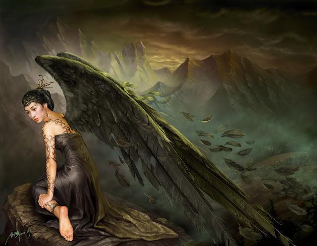 Black Angel,Yuehui Tang,digital art