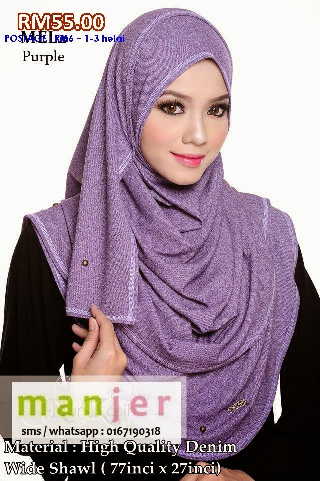 WIDE SHAWL DENIM