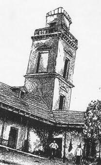 """Casco de la estancia Santa Lucía, con su """"Mirador"""" que diera identidad al barrio."""