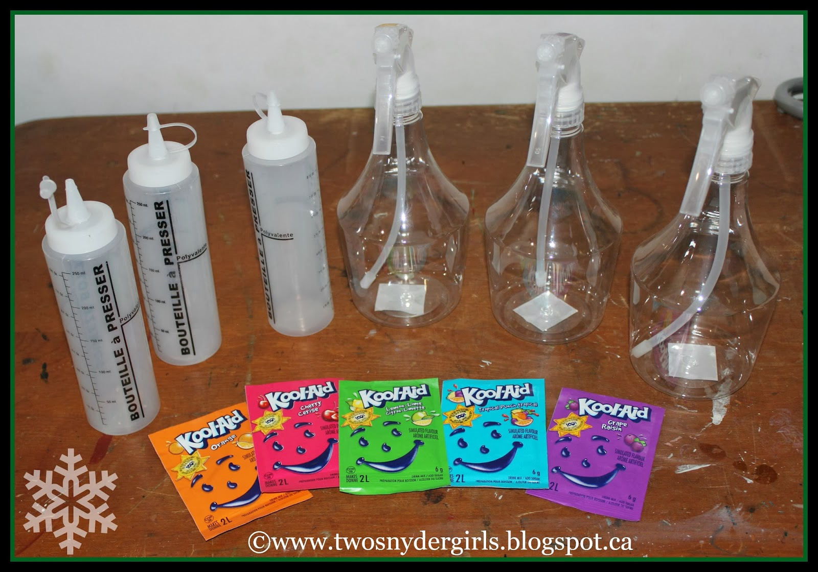 Kool Aid spray bottles