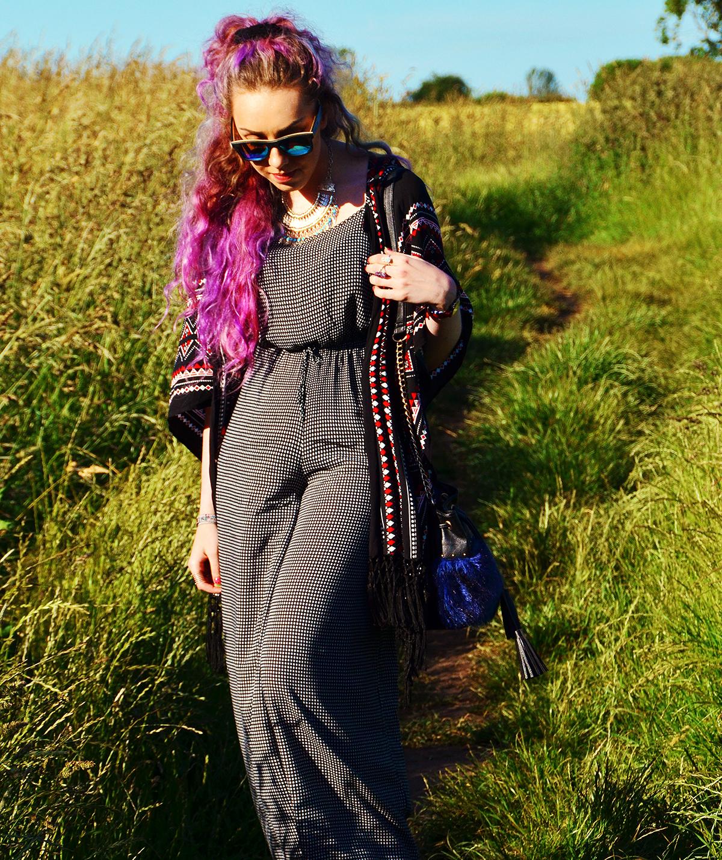 Mink Pink Boho Summer Jumpsuit Lookbook by Fashion Blogger Stephi LaReine
