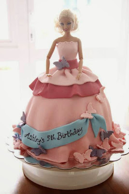 barbie girl birthday cake designs