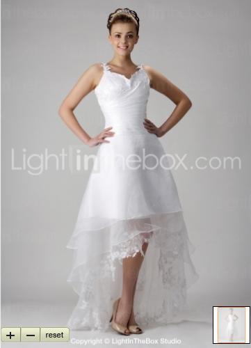 Unique and elegant asymmetrical hem wedding dress for Wedding dresses asymmetrical hemline