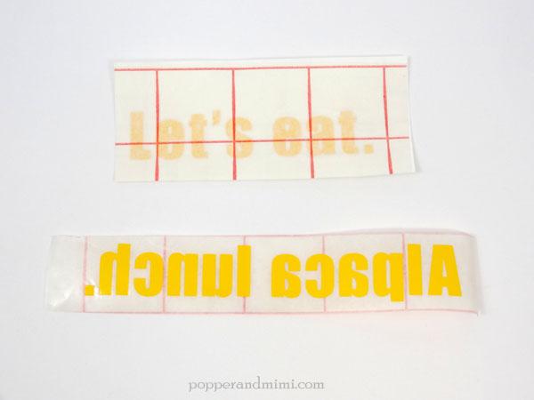 How to apply adhesive vinyl | popperandmimi.com