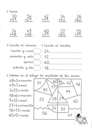 Cuadernillo de matemáticas: Sumas con llevadas | Para los peques de ...