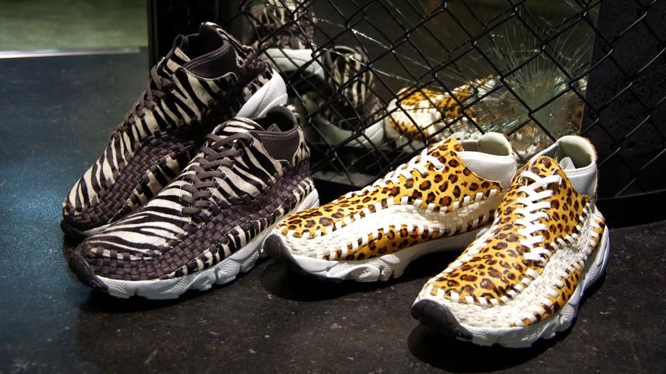 NIKE AIR FOOTSCAPE WOVEN CHUKKA PREMIUM Zebra and Leopard ...