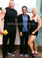 """Image » Exclusive Pic Of """"The Beast"""" Brock Lesnar With Wife Former Diva """"Sable"""""""