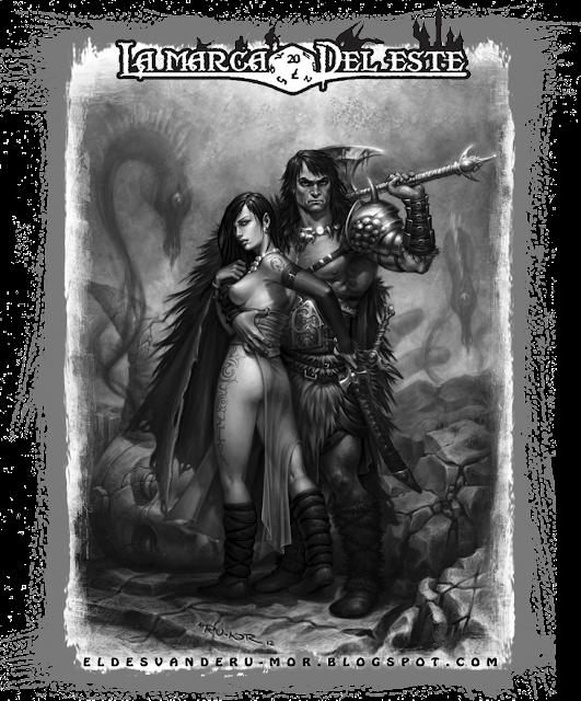 Ilustración Conan Belit La MArca del Este RU-MOR