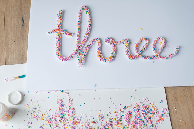 Diy Sprinkle Letters The Party Parade