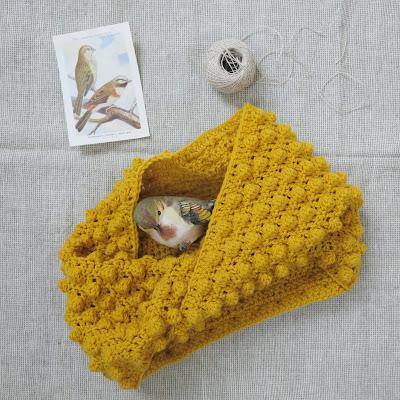 ByHaafner, crochet, cowl, bobble stitch,