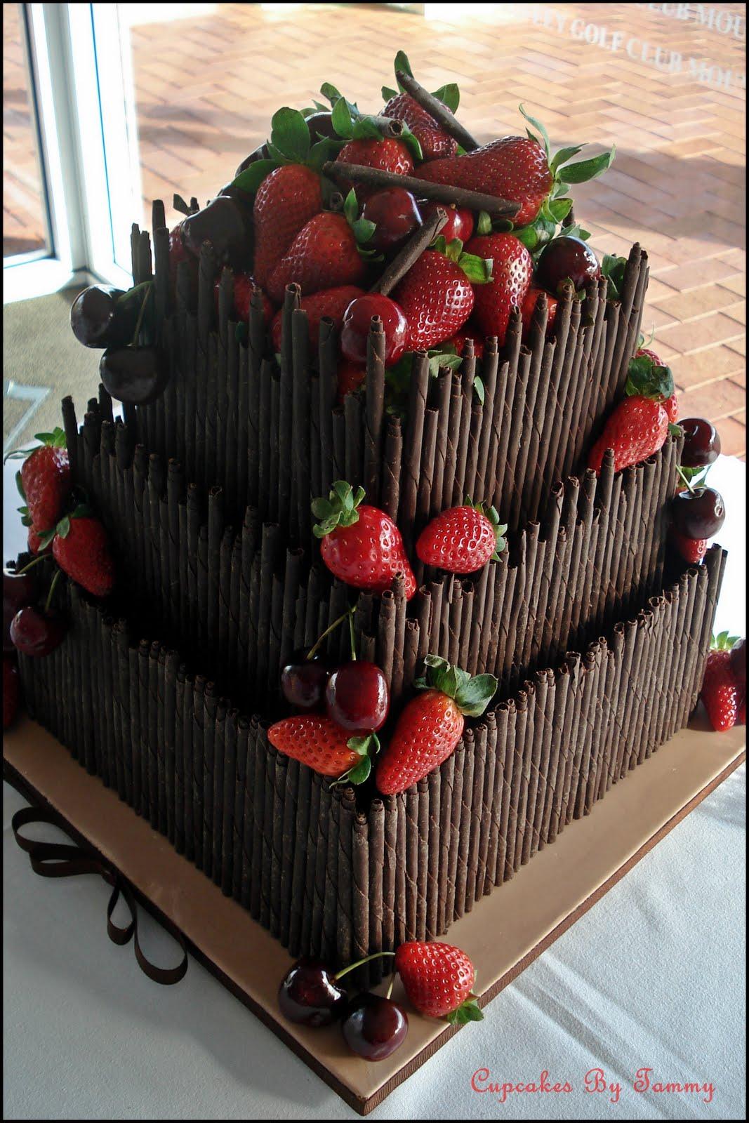 German chocolate wedding cake for my best friend