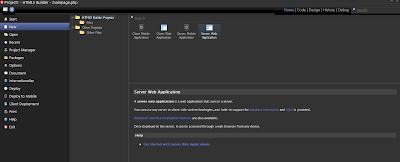 Opciones para la creación de Proyectos en HTML5 Builder