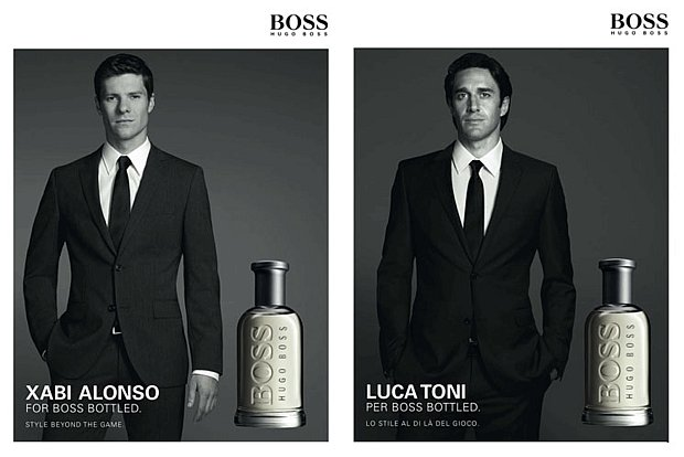 Xabi Alonso i Luca Toni w kampanii Boss Bottled.