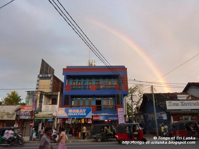 arc en ciel a Tangalle au Sri Lanka