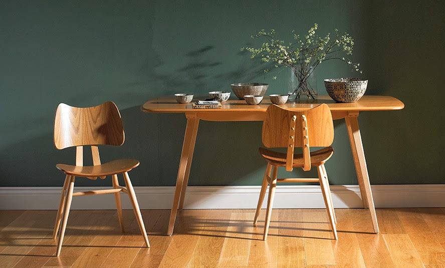 382 Plank Table Esstisch von 1958 mit Original Butterfly Chair von ERCOL im Mid-Century Design