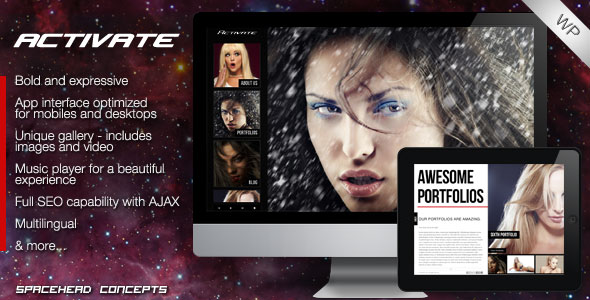Image for Activate – Creative and Responsive Theme by ThemeForest