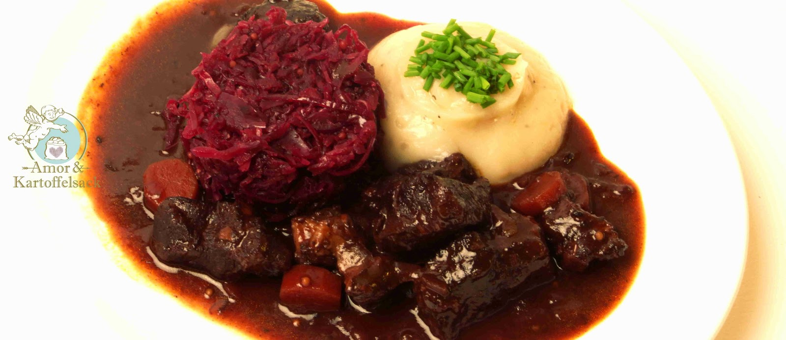 Wildgulasch Topinambur Blaukraut
