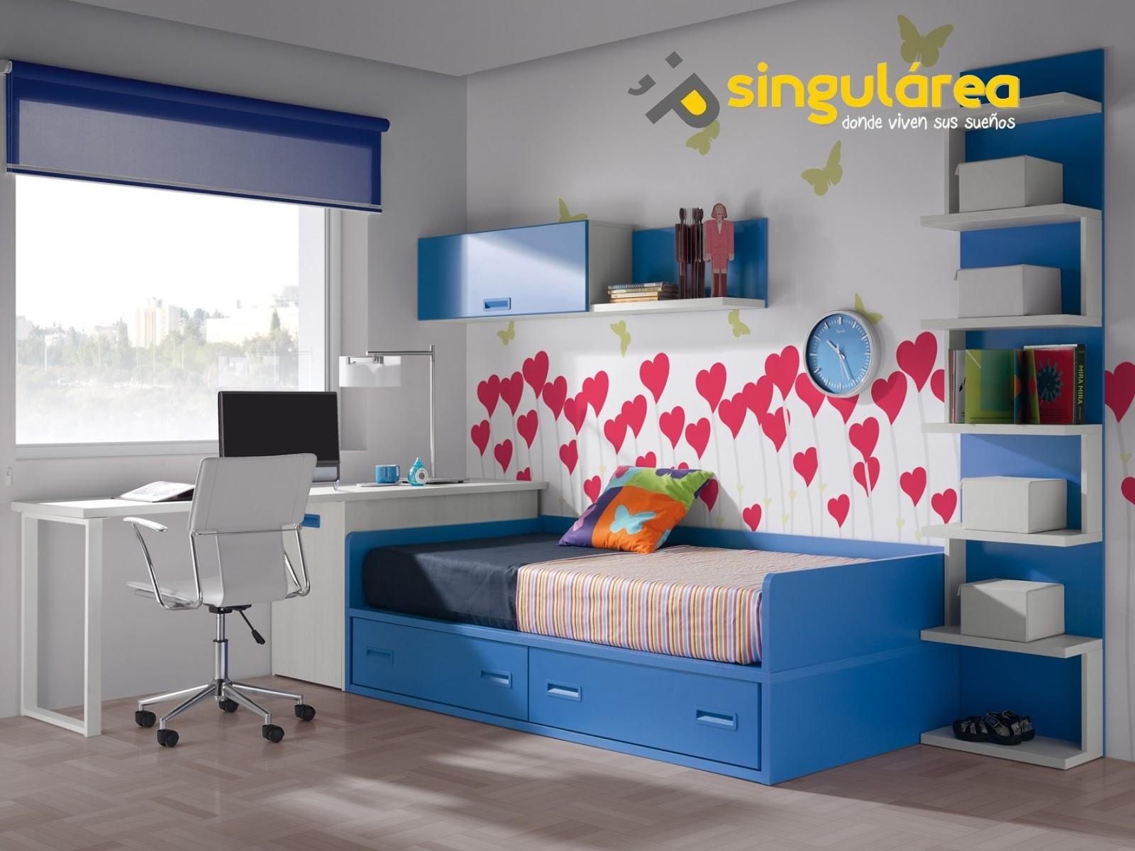 Dormitorio infantil sin armario 1078 - Colores habitacion nino ...