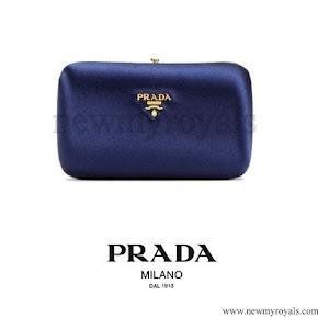 Crown Princess Mary style Prada Small Satin Box Clutch