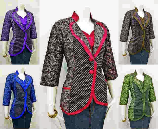 8 Model Baju Batik Wanita Modern Untuk Kerja Terbaru Batik Indonesia